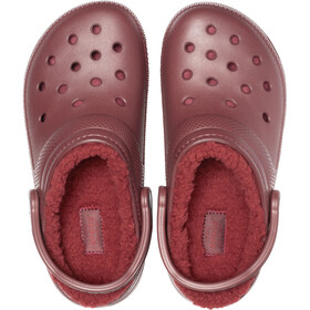 Crocs Classic Lined Clogs zoccoli, burgundy/burgundy